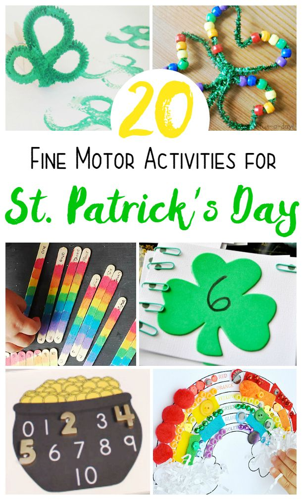 St Patrick S Day Fine Motor Activities Kids Will Love St