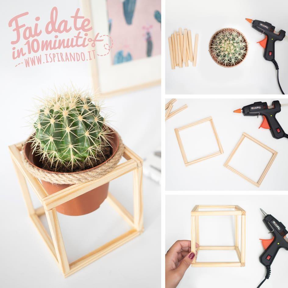 Come creare un cachepot minimal in legno   Arredare con le ...