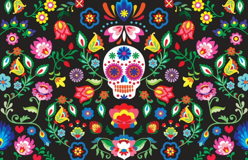 Mexican Sugar Skull Wallpaper Muralswallpaper Sugar