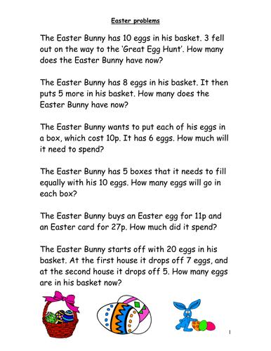 Easter Word Problems Maths For Ks2 Fph Easter Pinterest Word