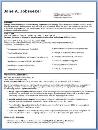 entry level engineering resume qualifications and skills - entry level engineering resume