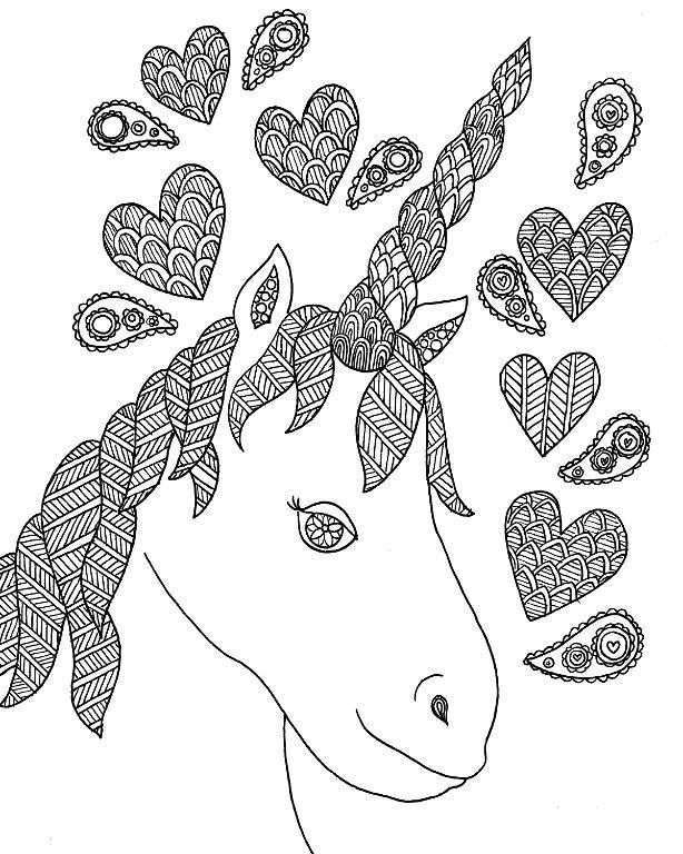 Free Unicorn Zentangle Coloring Page By Craftsyblog Craftsy Unicorn Coloring Pages Zentangle Coloring Pages