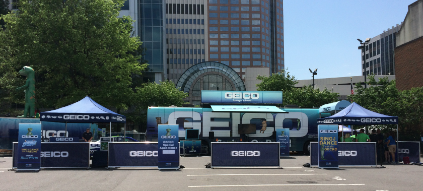 Geico And Its Trio Of Mascots Hit The Road Event Marketing