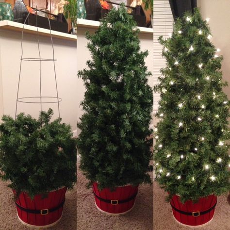 How to Make Inexpensive Indoor/Outdoor Topiary Trees ( Tomato Cage