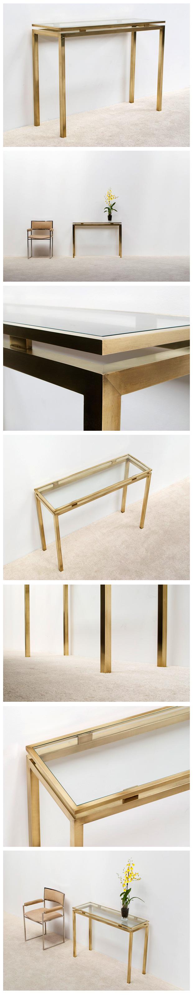 Guy Lefevre Brass Console Table Maison Jansen Salles De Bains