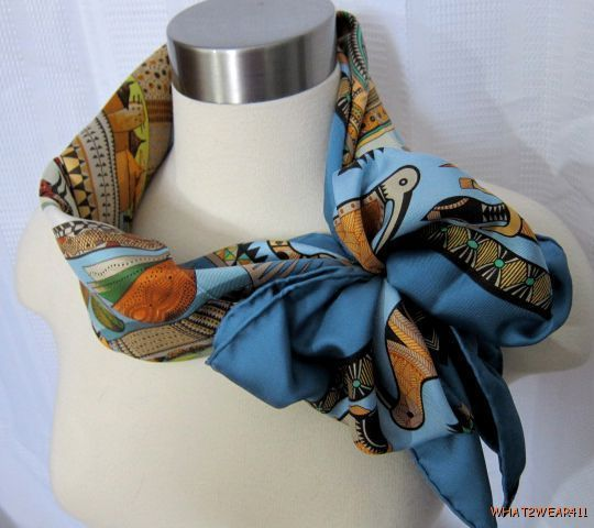Hermes scarf in bow