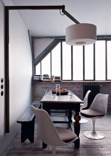 Petit loft en famille Swings, India and Big - table salle a manger loft