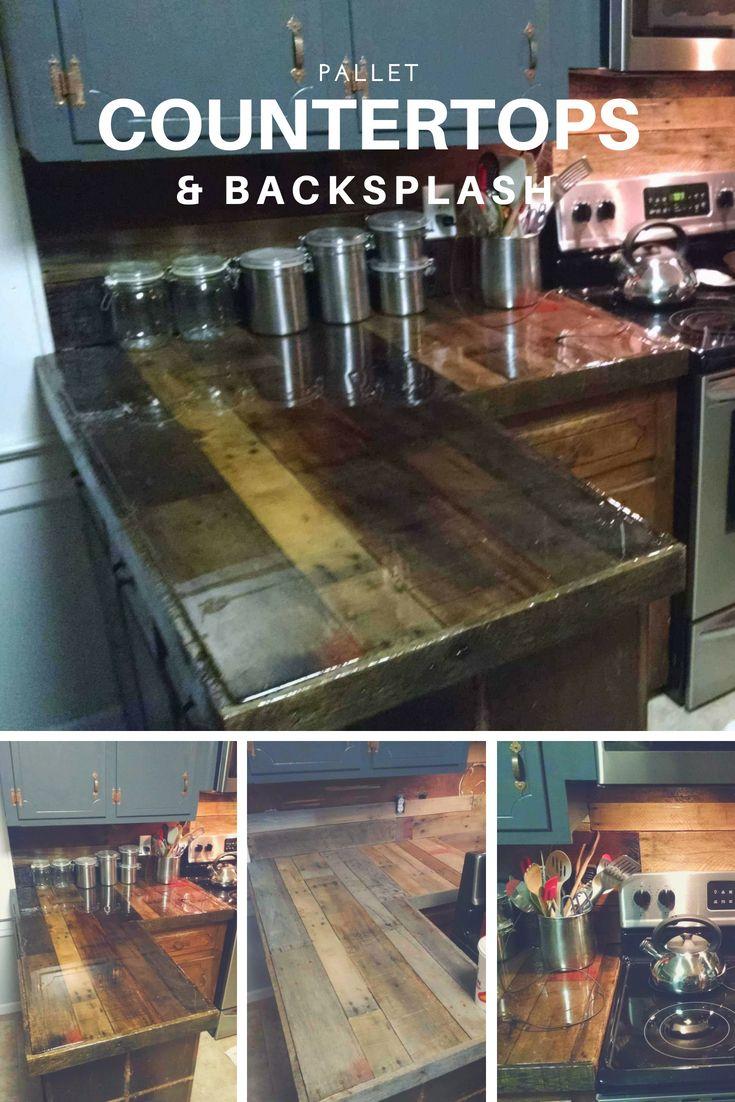 pallet countertops backsplash decorating kitchen pallet rh pinterest ch
