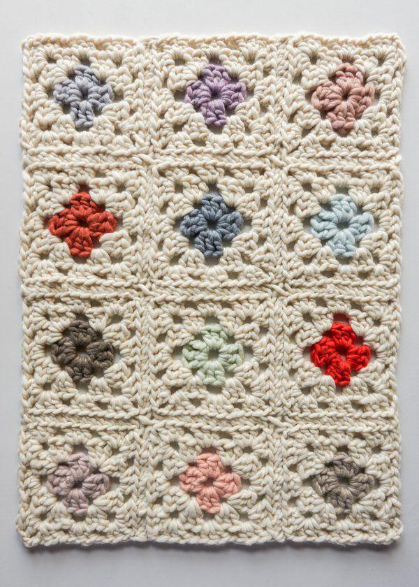Granny Square Blanket in Gentle Giant   Purl Soho   DIY   Pinterest ...