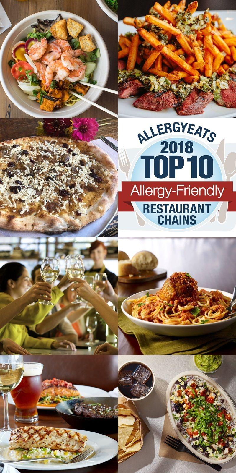 The Top 10 Allergy Friendly Restaurant Chains In America For 2018 Allergy Friendly Restaurants Food Allergies Paleo Restaurants