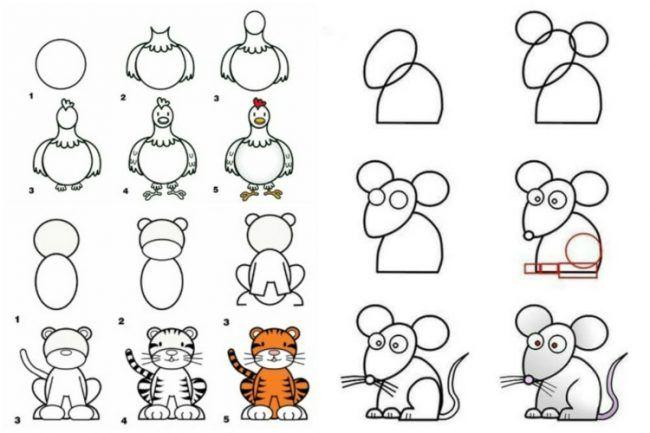 Zeichnen lernen mit Anleitungen für Kinder - Witzige ...