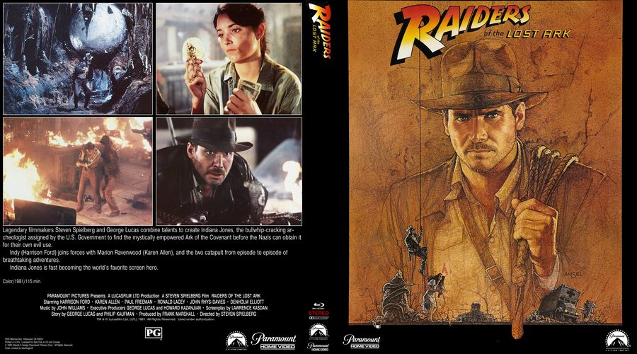 Raiders Of The Lost Ark Version 2 Custom Blu Ray Cover Nel 2020