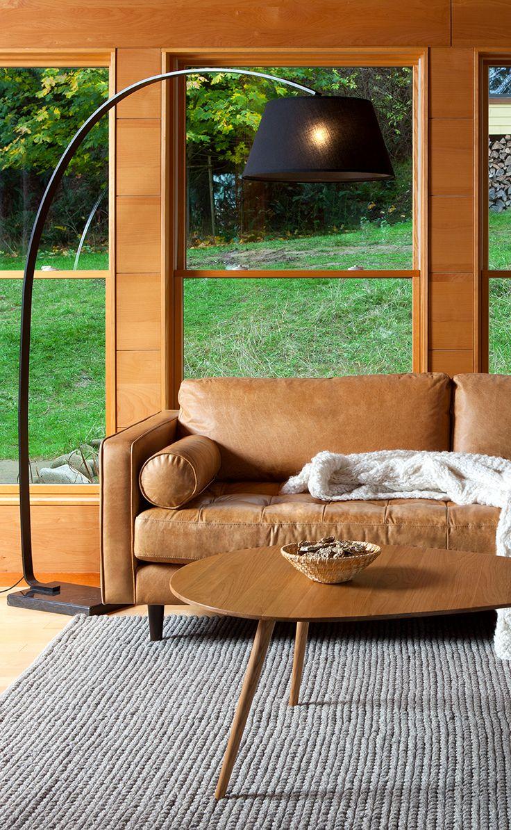 Tan Brown Leather Sofa - Italian Leather | Article Sven Modern ...