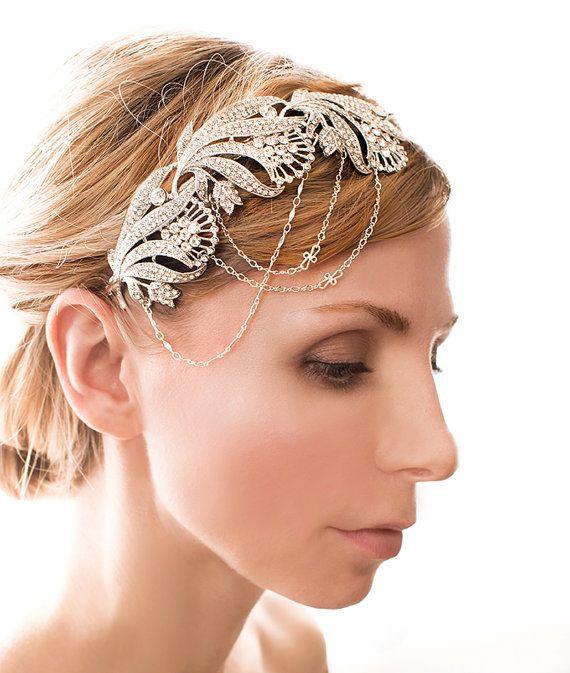 Wedding Hairstyles Drawing: Bridal Headband, Bridal Hair Accessories, Hair