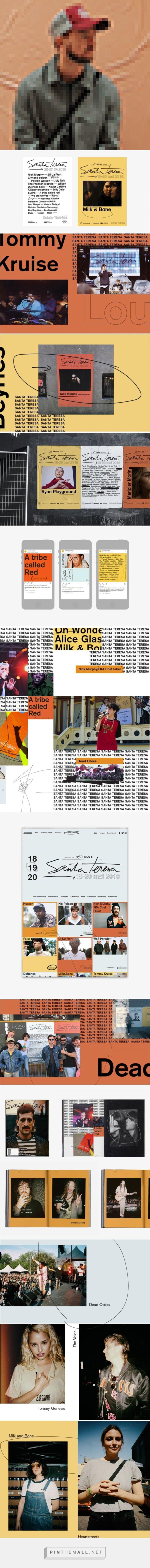 Santa Teresa Fest On Behance Created Via Https Pinthemall Net Behance Graphic Design Image