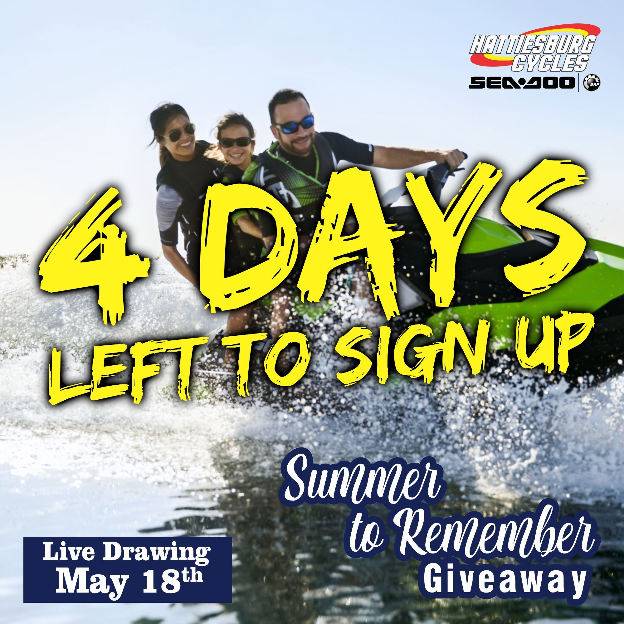 Time is running out to enter the Sea-Doo Spark Giveaway at