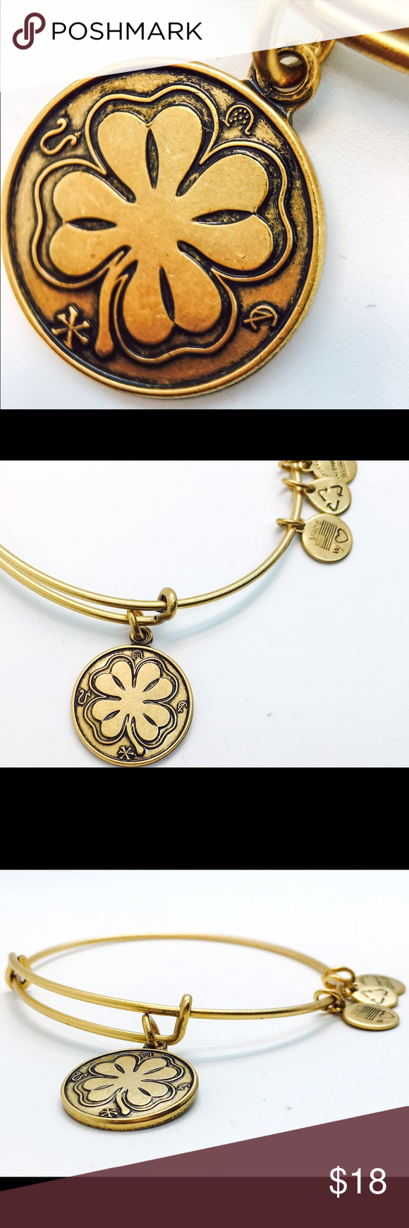 Alex and Ani Four Leaf Clover EWB RG New with no tags!!                                                        Pictures by me!! Alex & Ani Jewelry Bracelets