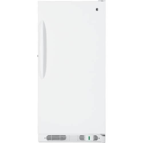 Ge Fum14svrww 14 1 Cu Ft Manual Defrost Upright Freezer In White Fum14svrww By Ge 661 00 With Its 14 1 Cubic Feet Of Frozen Storage Space Home Uprig