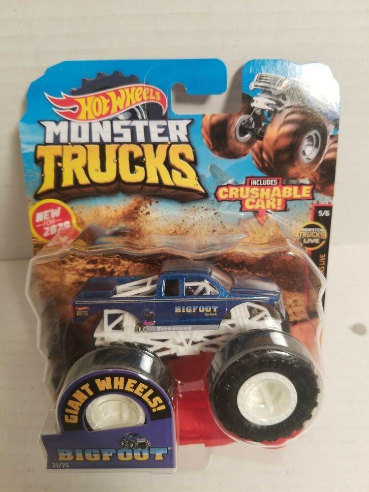 New 2020 Hot Wheels Monster Jam Bigfoot Monster Truck 1 64 New Body Style Hotwheels Monster Trucks Monster Trucks For Sale Hot Wheels