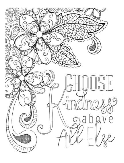 Choose kindness above all else Annieu0027s Coloring Pages on CardMaker - copy free coloring pages showing kindness