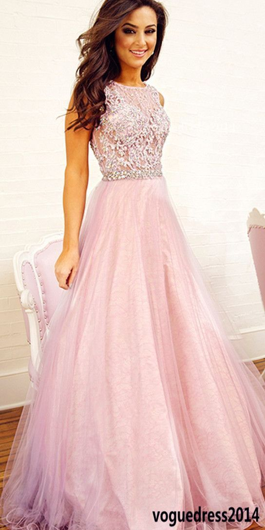 Pink prom dresses, Long prom dresses, tulle prom dress, cheap prom ...