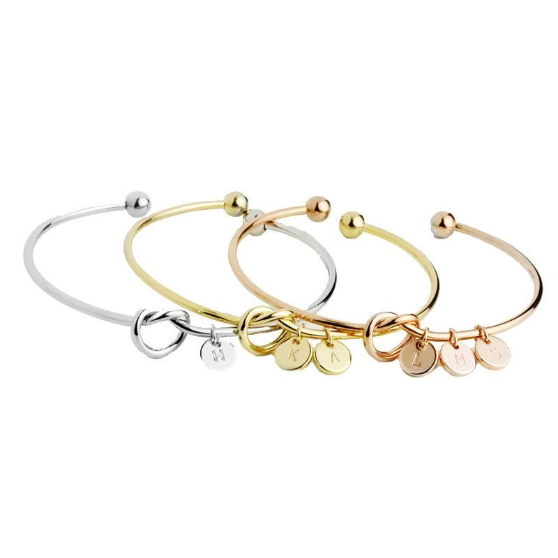 Product name: knotted letter braceletMaterial: AlloySize length: one sizeWeight: 10 gramsPackage: OPP bag packaging