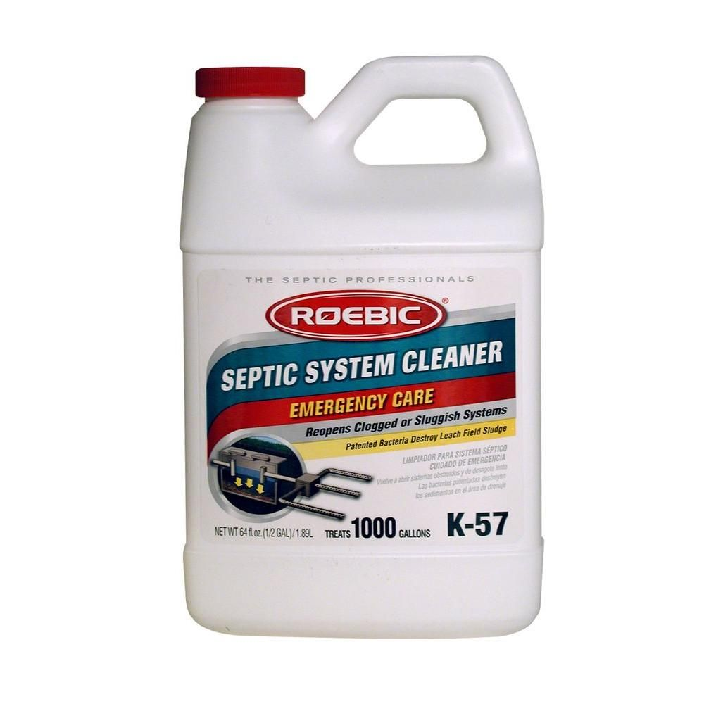 Roebic 64 Oz Roebic Septic System Cleaner K 57 H 3 The Home Depot Septic System Septic Cleaners Drain Cleaner
