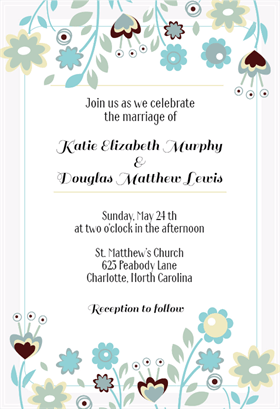 "Invitation Templates Free Entrancing Flower Border"" Printable Invitation Templatecustomize Add Text ."