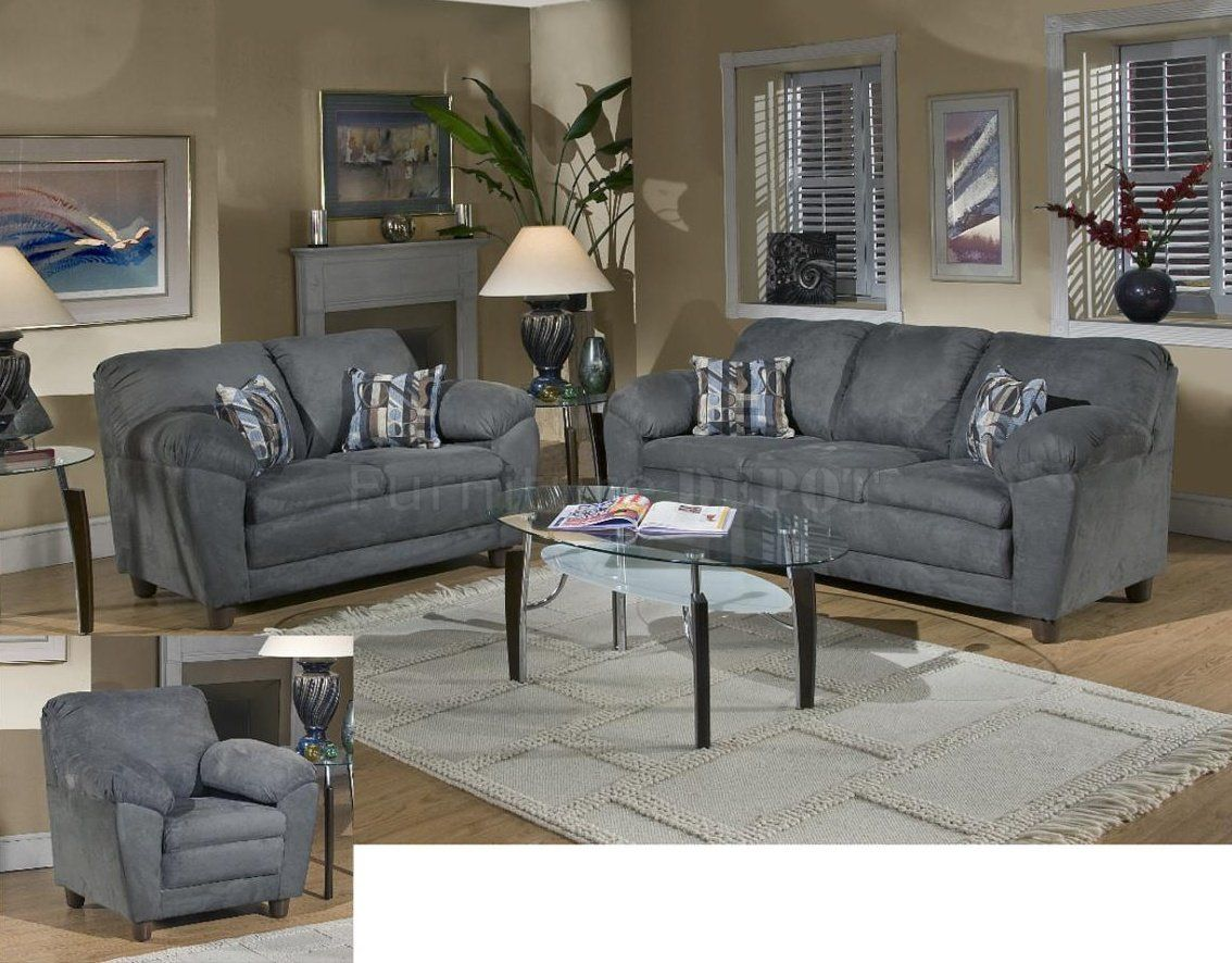 Julia Sofa u Loveseat Set in Bulldozer Thunder by Chelsea