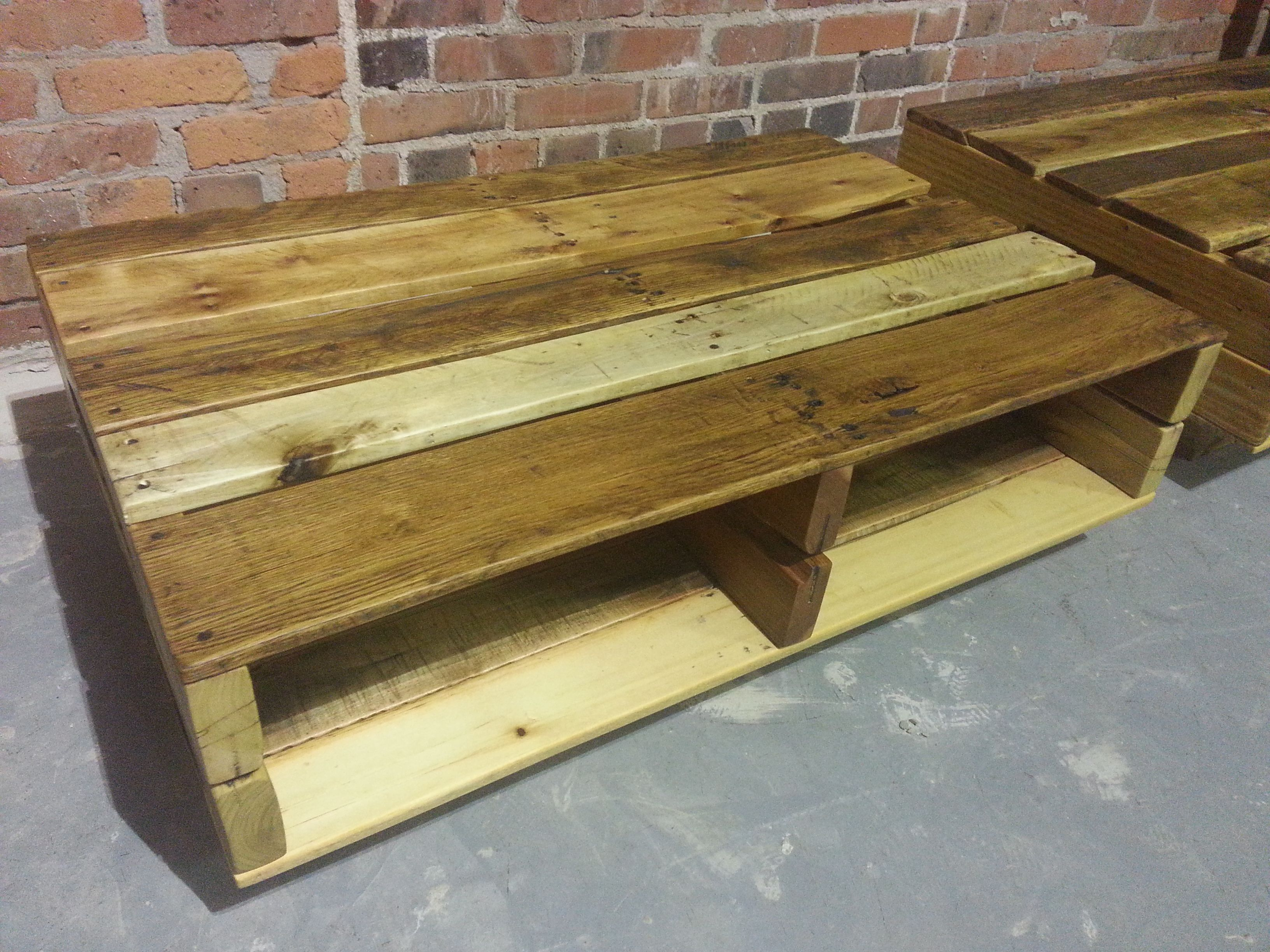 "Pallet Coffee Tables 24"" x 36"" x 12"" Reclaimed hardwood pallets"