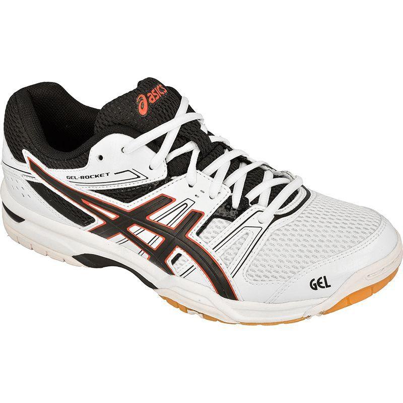 Buty Do Siatkowki Asics Gel Rocket 7 M B405n 0190 Biale Biale Badminton Shoes Asics Sneaker Asics