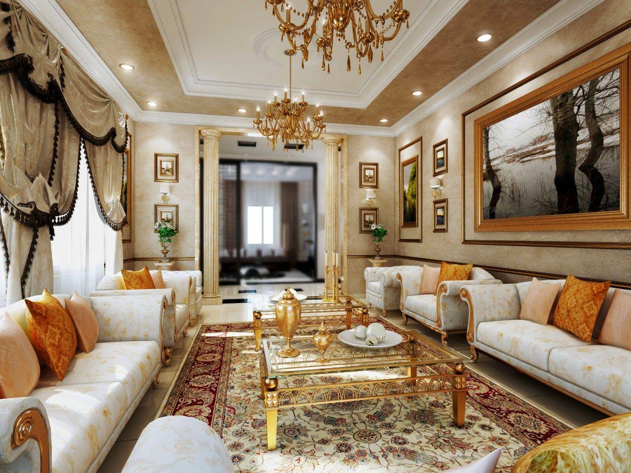 dekorasi ruang tamu luas - Google Search  Ruang tamu mewah