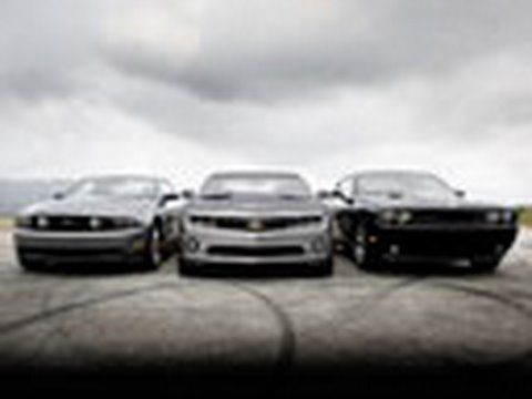 Camaro Fights Mustang And Challenger Muscle Car Comparison