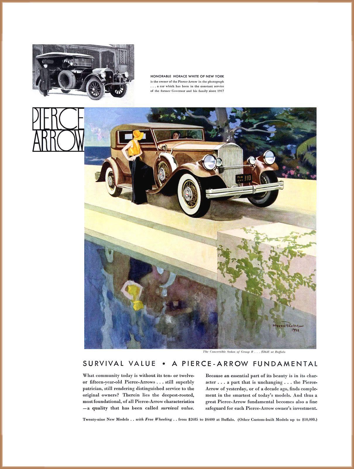 Pin by Vogel Marketing Solutions LLC on Pierce Arrow Car Ads ...