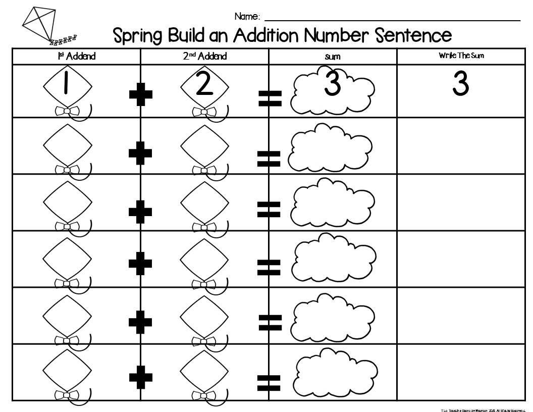 Spring Build 2 Addend 0 20 Addition Amp Subtraction Number
