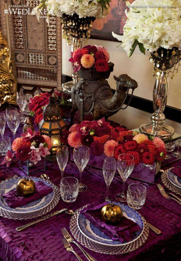 moroccan themed reception table decoration weddings. Black Bedroom Furniture Sets. Home Design Ideas