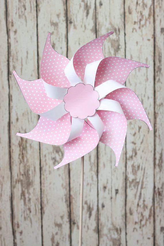 Plantilla imprimible de Pinwheel, DIY Pinwheel, molinete de papel ...