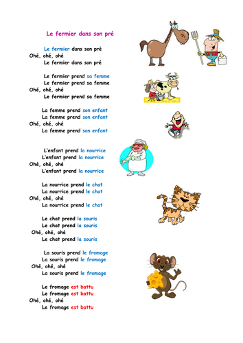 La Parole Est Dans Le Pré : parole, Fermier, Teaching, Resources, Resources,, Teaching,, Songs