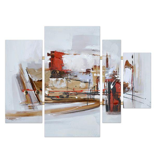 Veronneau.com - Tableau peint à la main abstrait 42,9x31,5'', 9051TVU, 198.89$