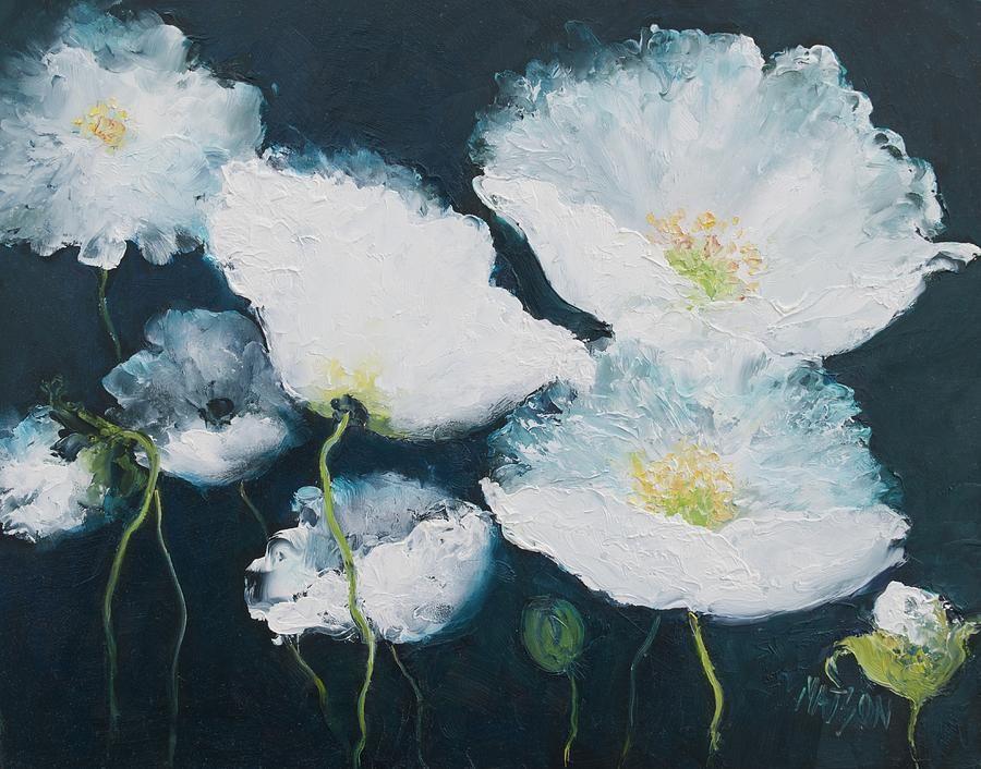 Dancing white poppies by jan matson in 2021 poppy