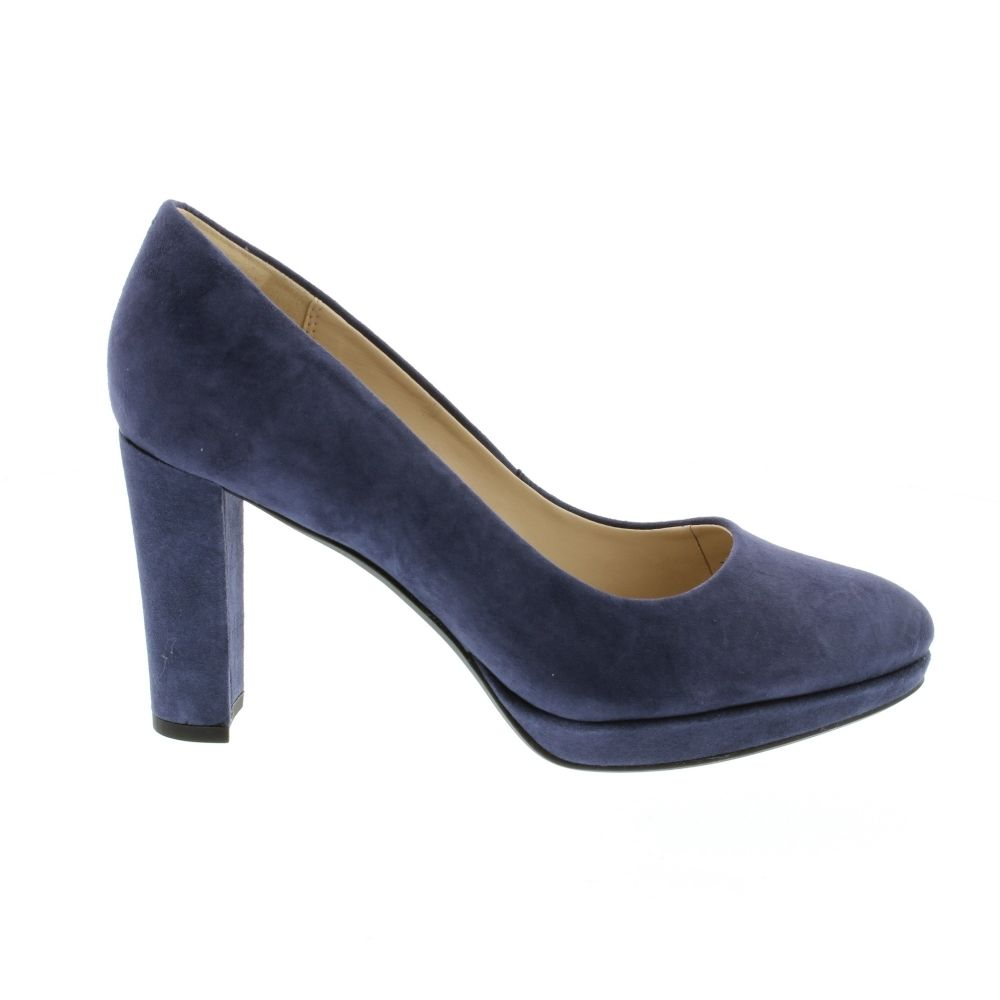 7e58544c963 Clarks Kendra Sienna - Navy Suede - Heels from Bells Shoes UK