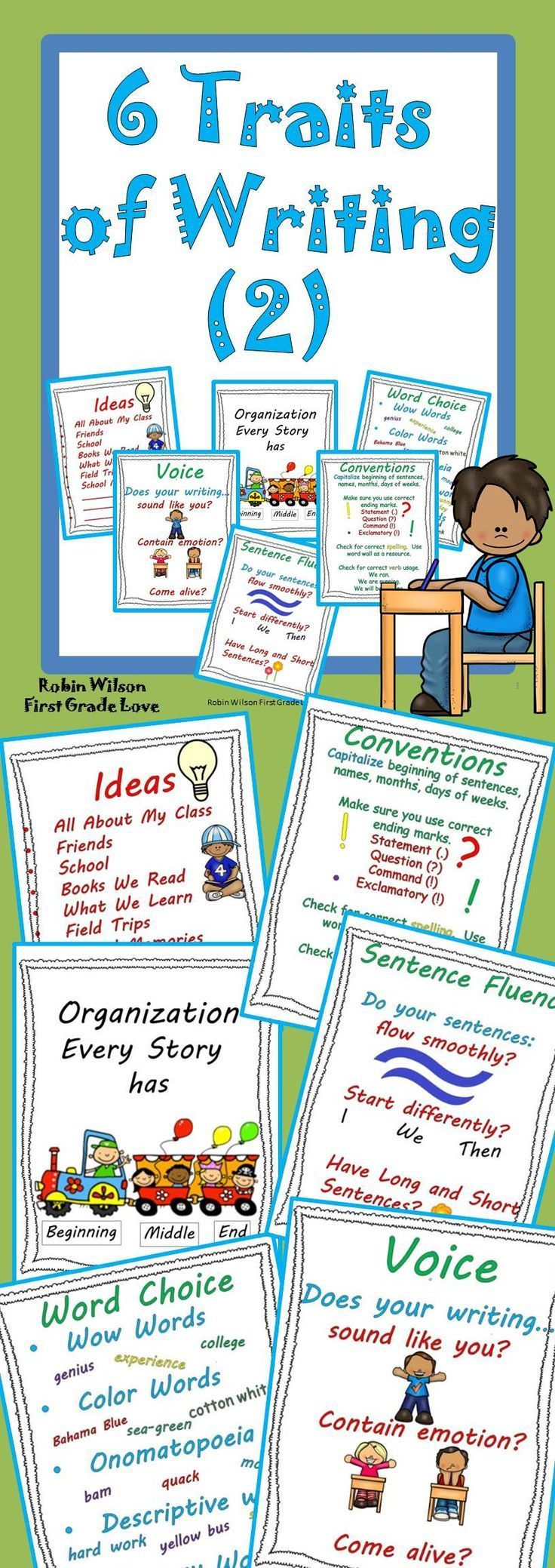 6 Traits Writing Mini Lessons 2 Is A Great Addition To Your 6 1 Or 6 Traits Writing Traits Crate 6 T Writing Mini Lessons 6 Traits Of Writing Writing Traits [ 2078 x 736 Pixel ]