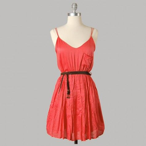 I Love Summer Dress - Coral