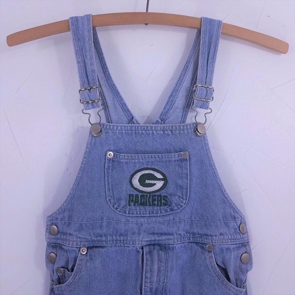 Green Bay Packers Bib Overalls Boys Girls Size 6 Denim Jeans Bibs Nfl Football Packers Greenbaypackers Boysclothes Boysclot Boy Outfits Overalls Size Girls