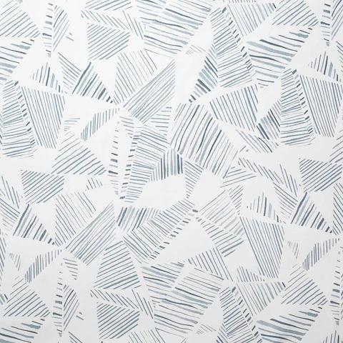 Mixed Stripe Wallpaper in BlueSlate in 2020 Screen