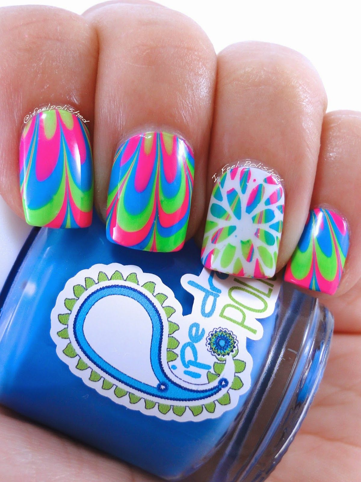 I Feel Polished!: Neon Mum Water Marble | cosmetics and female tools ...