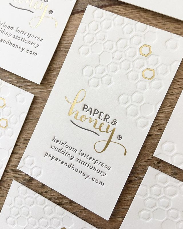 Paper honey business cards two color letterpress and gold foil paper honey business cards two color letterpress and gold foil stamped reheart Images