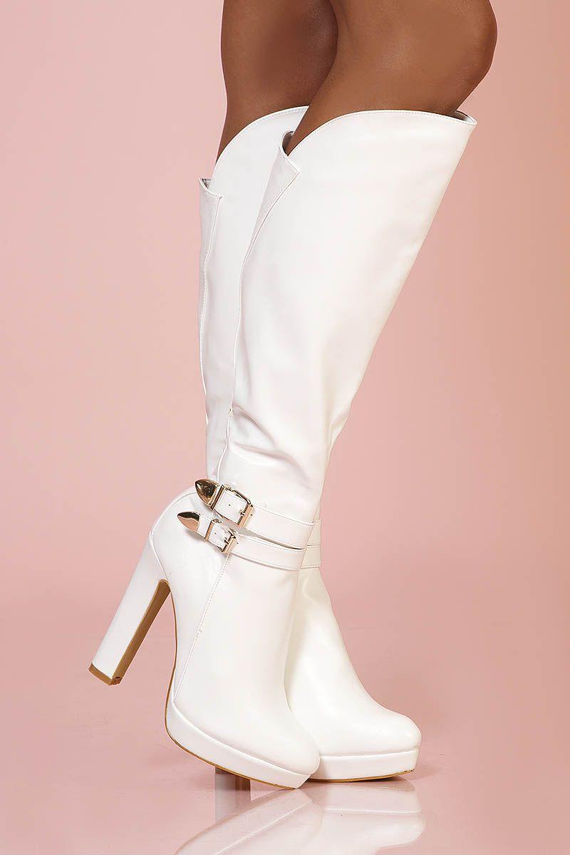 Chaussures - Cheville Passion Bottes Blanche US1GrRWm