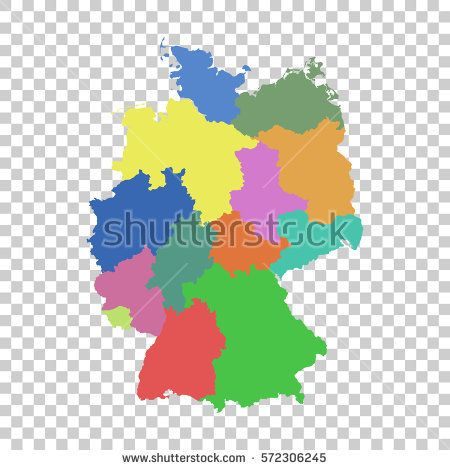 Germany map with federal states flat vector alemania germany germany map with federal states flat vector gumiabroncs Choice Image