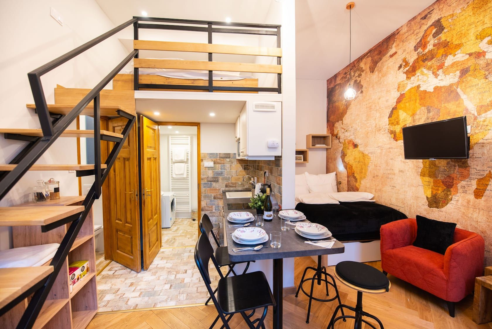 King David Studio With A C Apartments For Rent In Budapest Hungary Apartments For Rent Modern Apartment House Beds